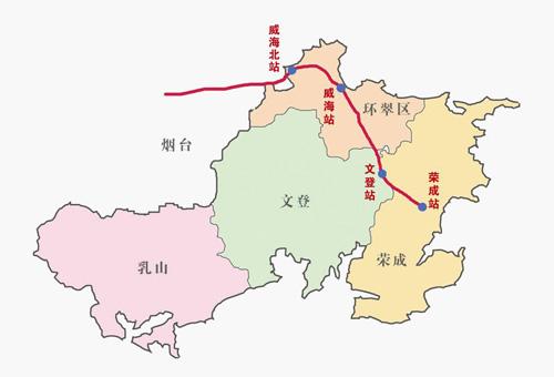 山东省铁路网地图